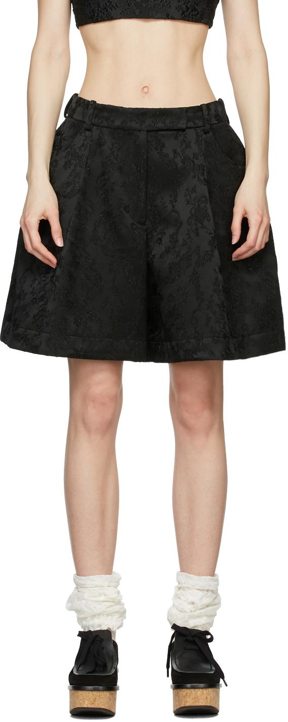 Simone Rocha 黑色叠层短裤