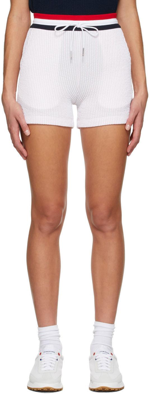 Thom Browne 粉色泡泡纱短裤