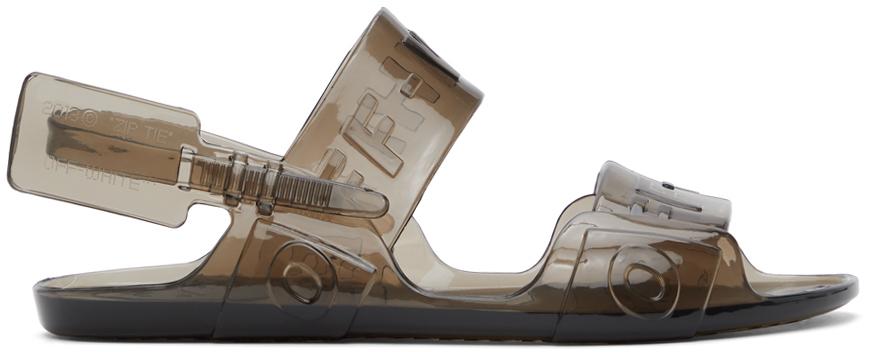 Off-White 灰色 Jelly 凉鞋