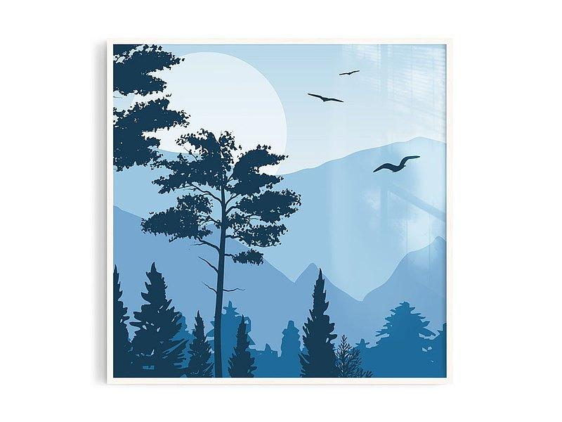 Poster • tw丨森藍5/插畫/掛畫/海報/鋁框/A4/尺寸可客製