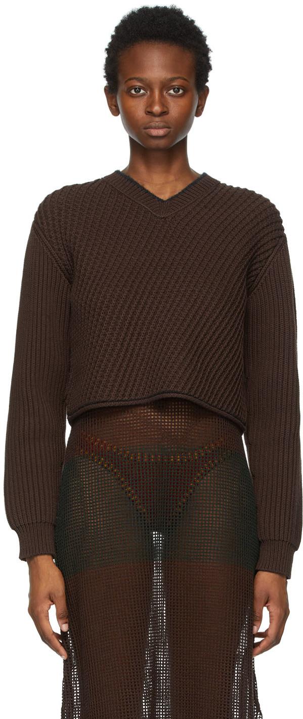 Acne Studios 棕色短款针织衫