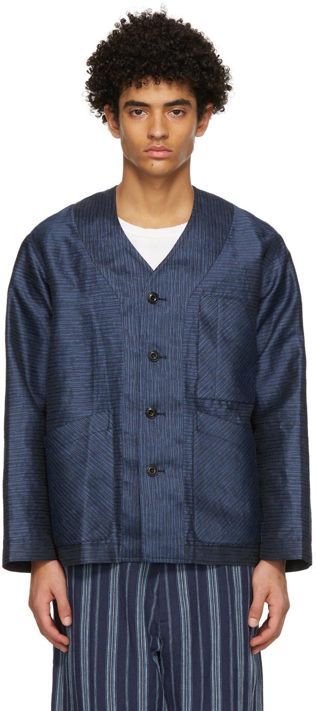 Nicholas Daley 海军蓝贴袋开衫