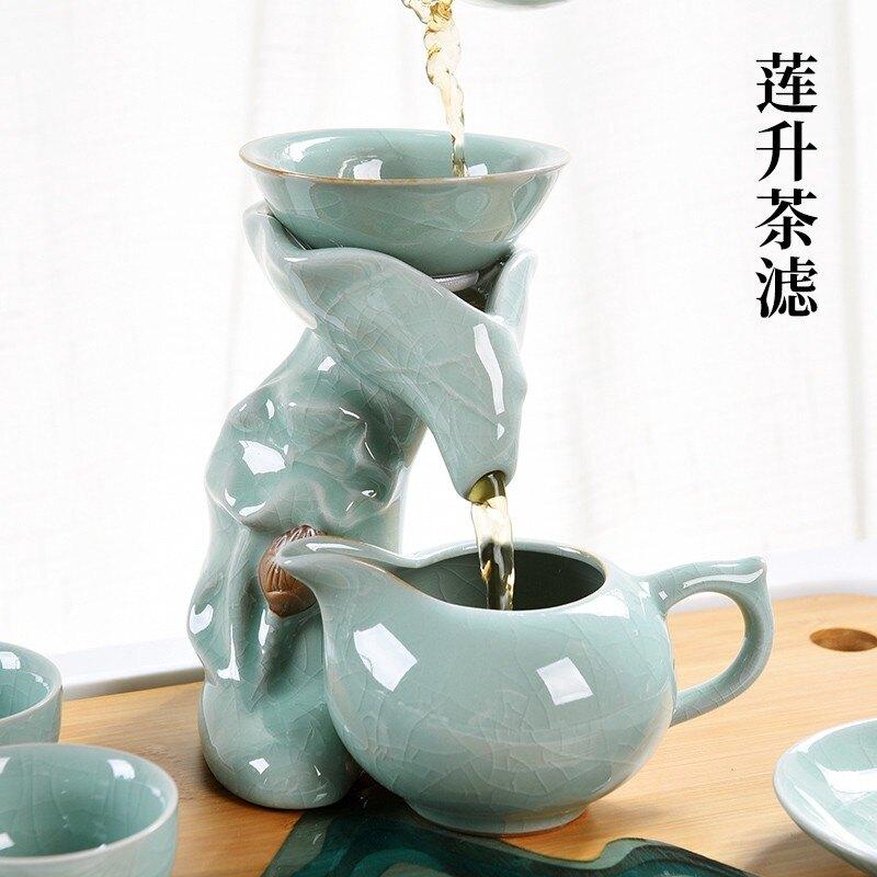 哥窯功夫茶具套裝家用日式干泡簡約冰裂青瓷開片陶瓷茶壺茶杯 艾琴海小屋