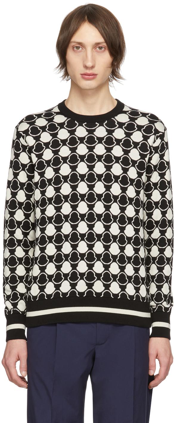 Moncler 黑色 & 白色 Bell 提花毛衣
