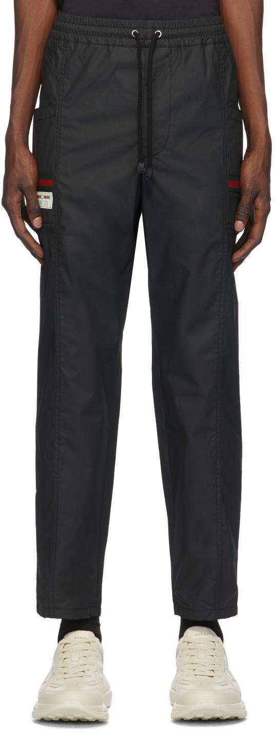Gucci 黑色防水工装裤