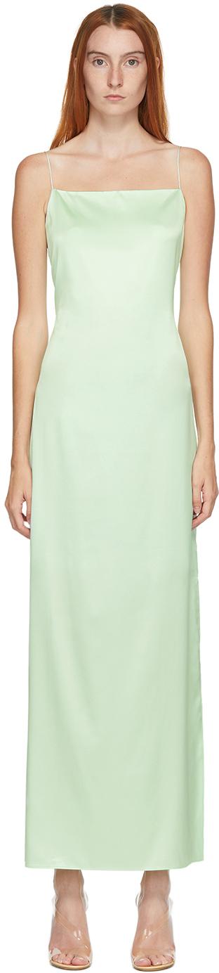 Helmut Lang SSENSE 独家发售绿色吊带连衣裙