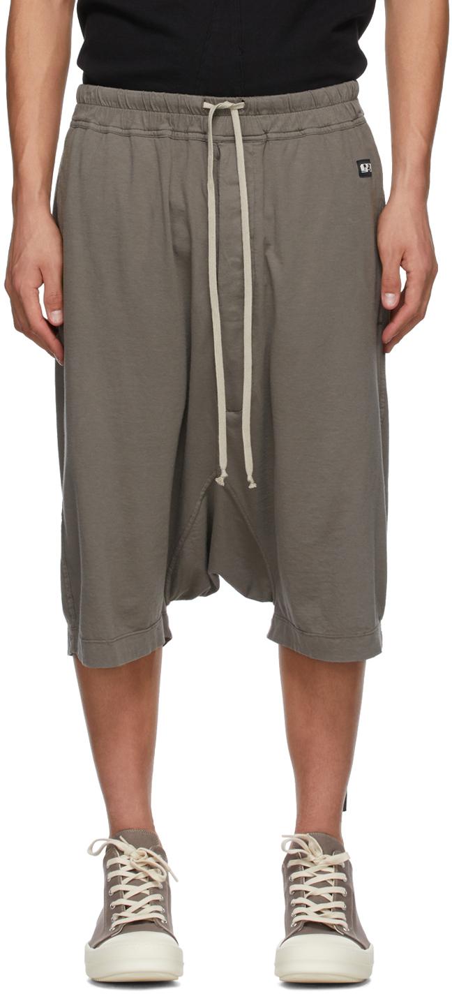 Rick Owens Drkshdw 灰色 Pods 短裤