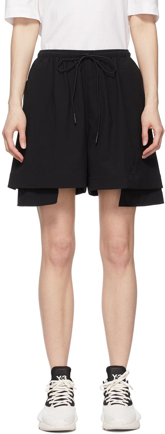 Y-3 黑色 Light Stretch 短裤
