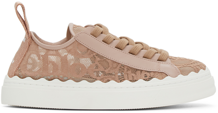 Chloé 粉色 Lauren 运动鞋