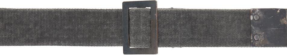 Boris Bidjan Saberi 灰色树脂染色腰带