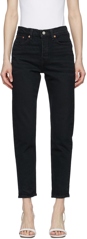 Levi's 黑色 Wedgie Fit Ankle 牛仔裤