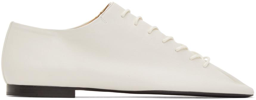 Lemaire 白色平底德比鞋