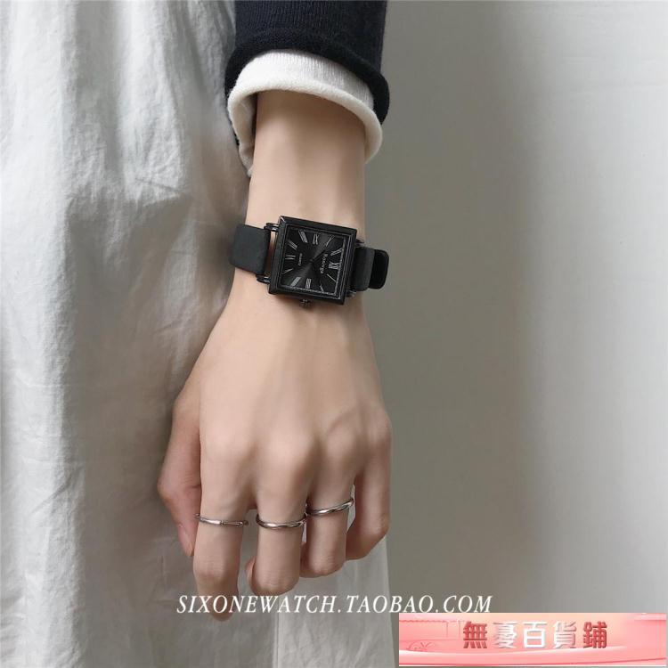 手錶經典復古方形手錶女中學生初高中簡約小清新青少年防水氣質ins風 無憂百貨