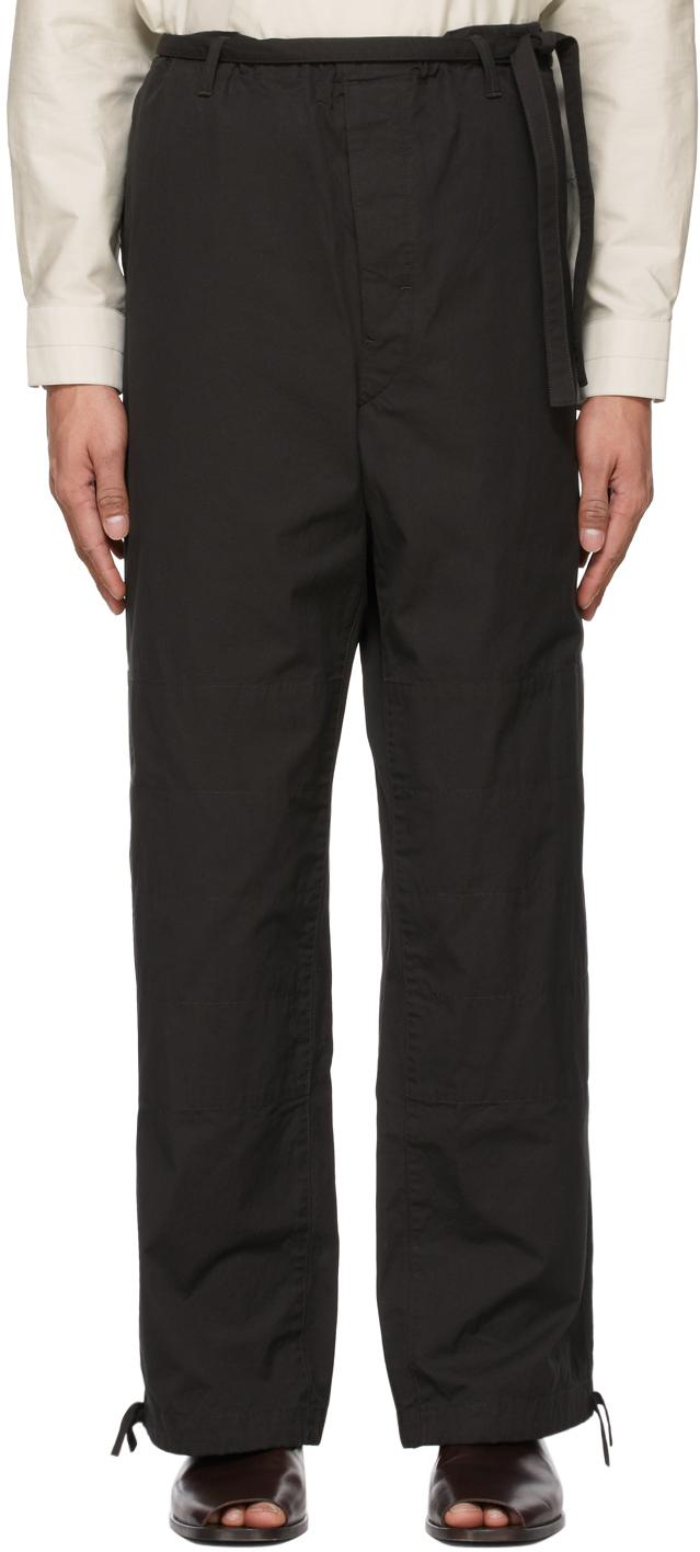 Lemaire 黑色 Judo 抽绳长裤