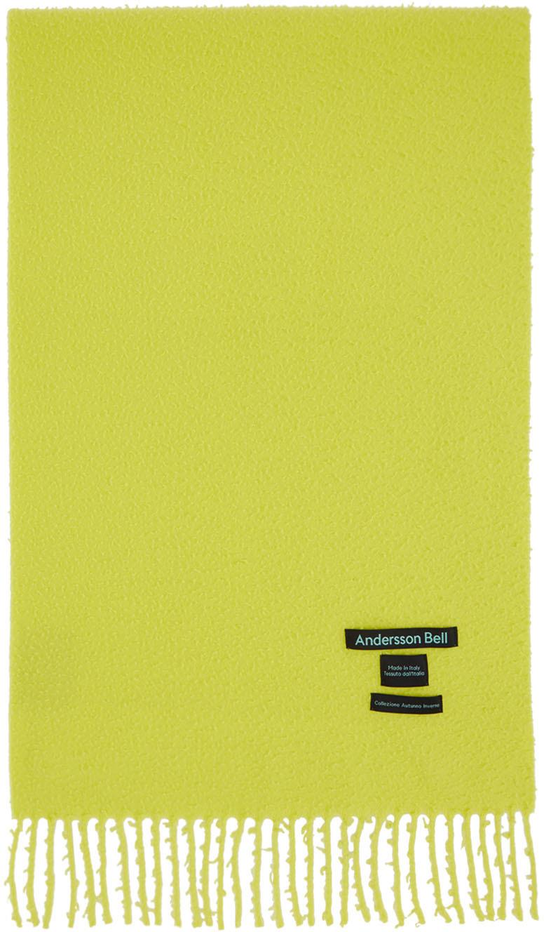 Andersson Bell SSENSE 独家发售黄色 Biella 羊毛围巾