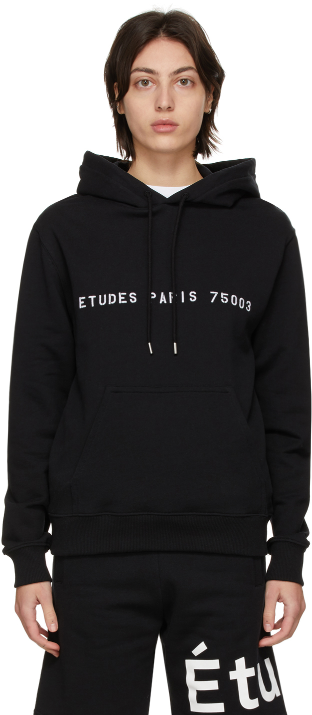 Études 黑色 Klein Yes Future 有机棉连帽衫