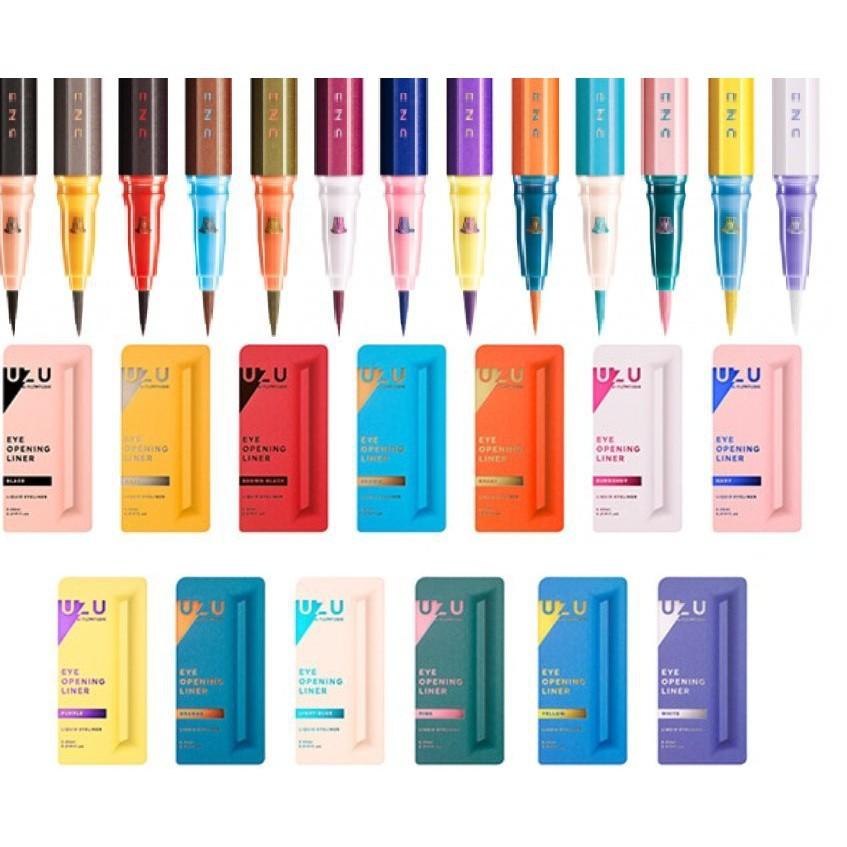 UZU眼線液筆,黑色、黑棕色、棕色、卡其 La Jolie Makeup
