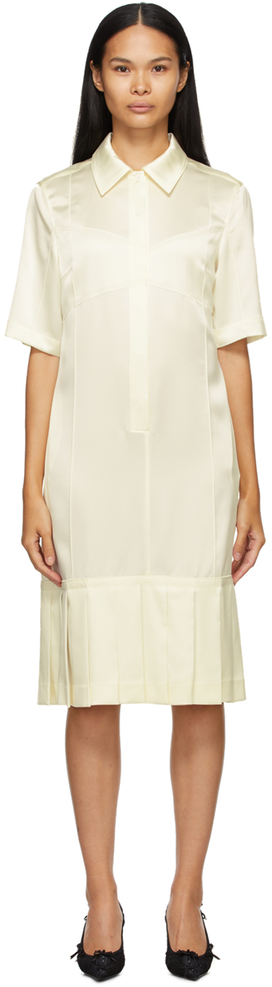 Commission SSENSE 独家发售灰白色 Bralette 衬衫连衣裙