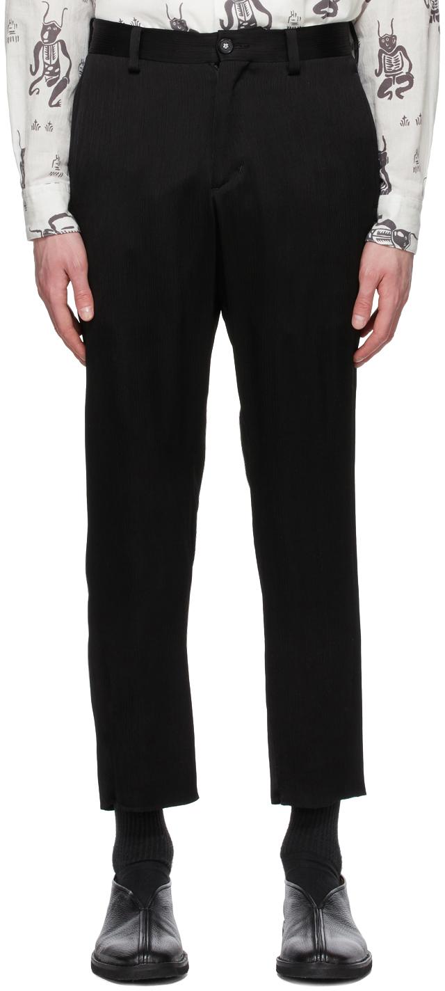 Sasquatchfabrix. 黑色 Siwa Slim Silhouette 长裤