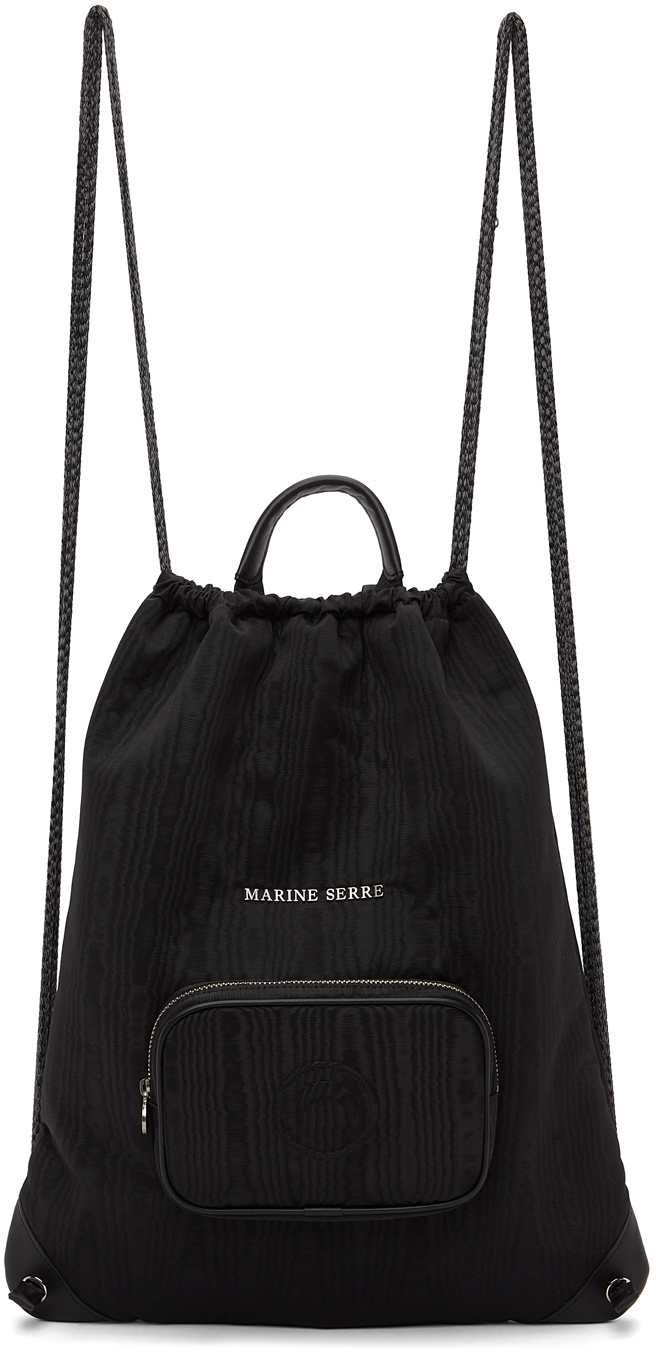 Marine Serre 黑色 Two Sided Drawstring 双肩包