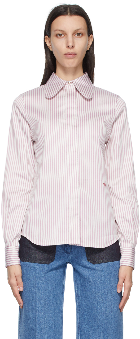 Victoria Beckham 紫色 Club 条纹衬衫