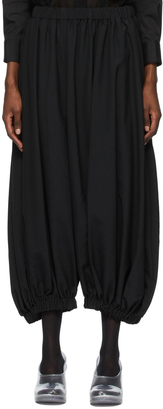 Comme des Garçons 黑色 Pull-On 羊毛长裤