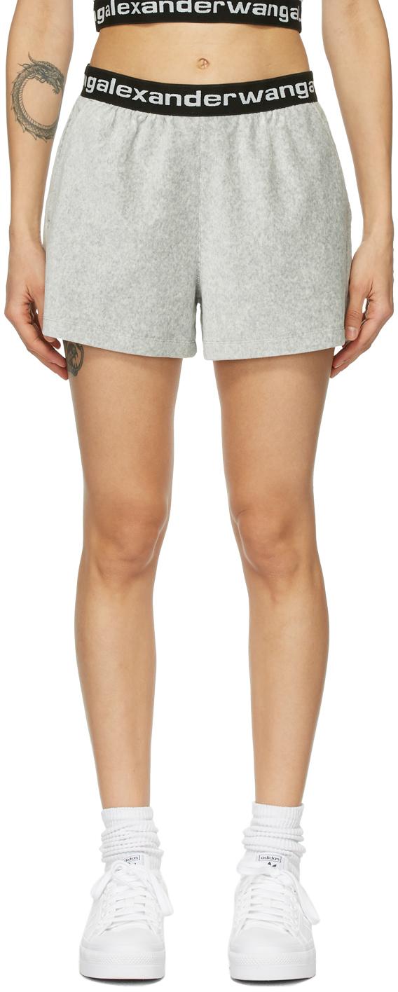 alexanderwang.t 灰色灯芯绒短裤