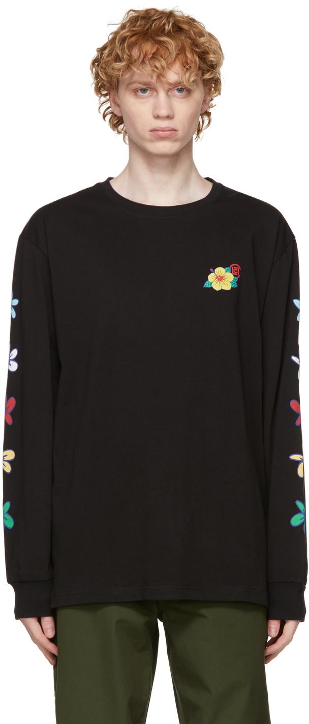 CLOT 黑色 Flowers Print 长袖 T 恤