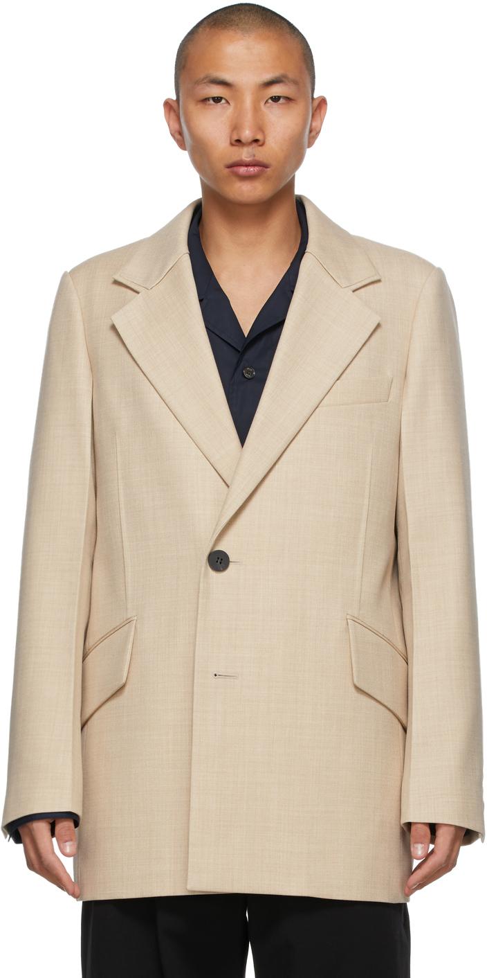 Wooyoungmi 米色双排扣西装外套