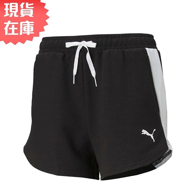 【現貨】PUMA 女裝 短褲 慢跑 三分 吸濕排汗 針織 基本 黑【運動世界】58595701