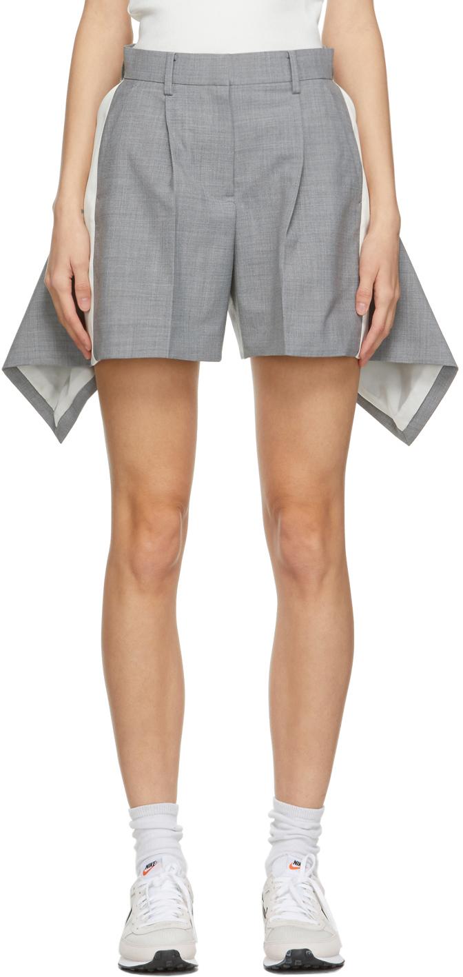 Sacai 灰色垂坠短裤