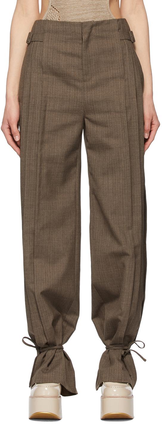 Andersson Bell 棕色 Carina 褶裥长裤