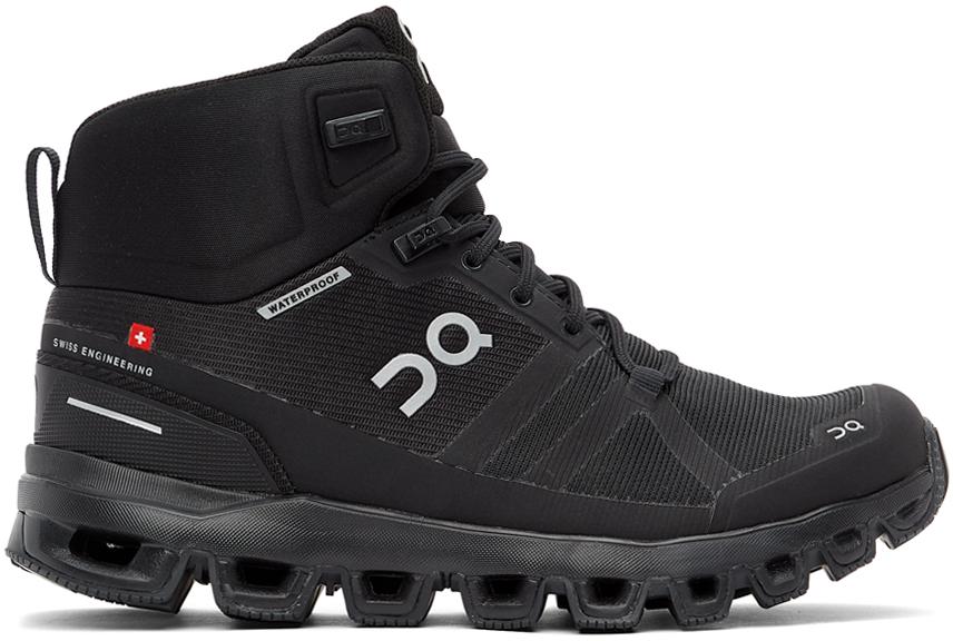 On 黑色 Cloudrock 防水踝靴