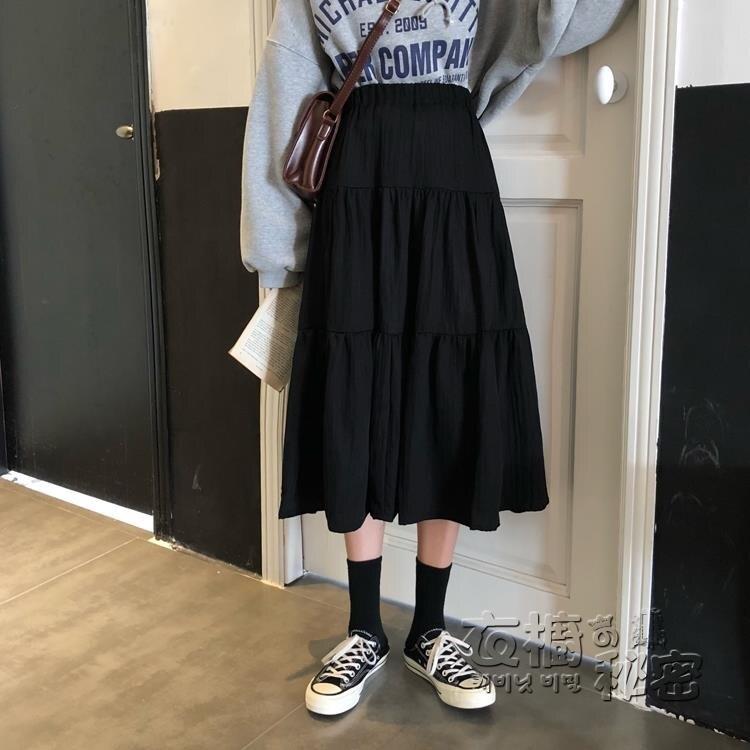 145小個子白色半身裙女小矮個子150cm穿搭配顯高155高腰A字中長裙 果果輕時尚