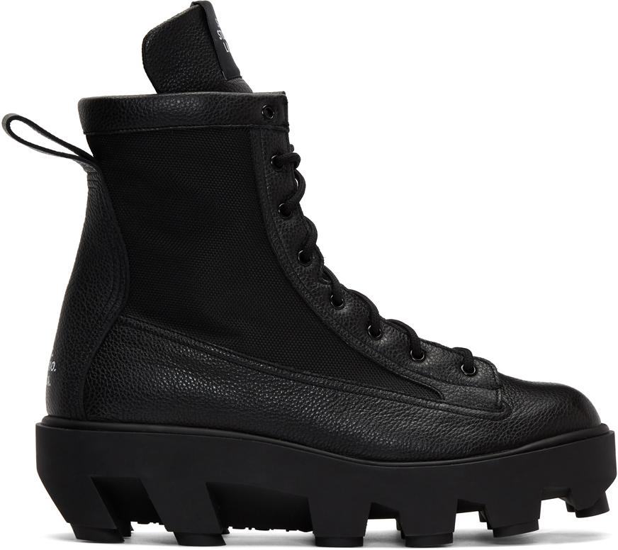 S.R. STUDIO. LA. CA. 黑色 Therapist 系带靴