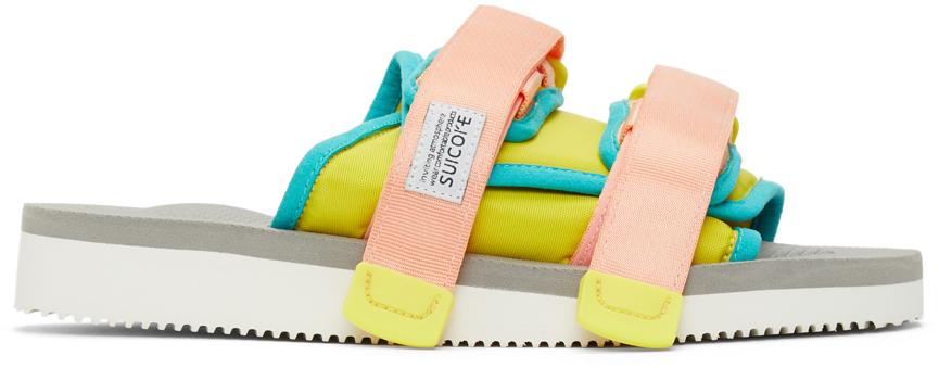 Suicoke 黄色 & 粉色 MOTO-CAB 拖鞋