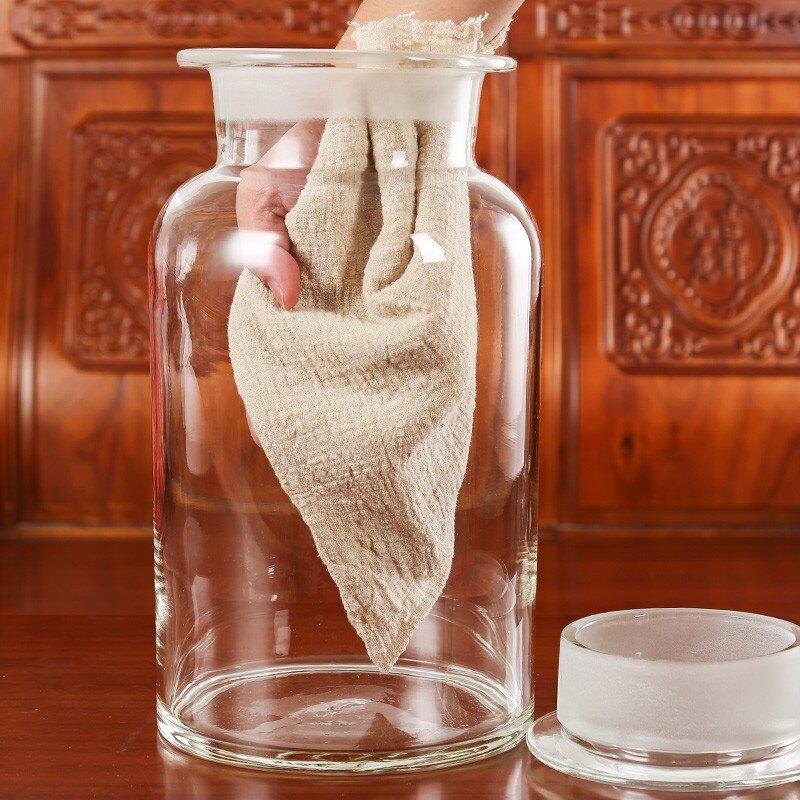 【洛洛精品】高硼硅泡酒密封酒瓶10斤20斤30斤40斤家用酒壇子釀白酒酒缸儲酒壇 艾琴海小屋