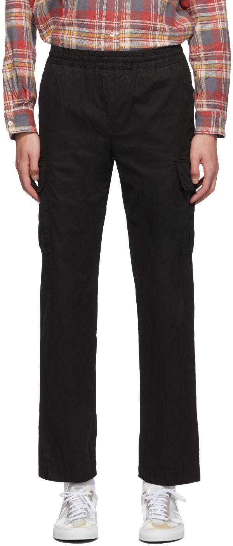 PRESIDENT's 黑色 Sport 成衣染色工装裤