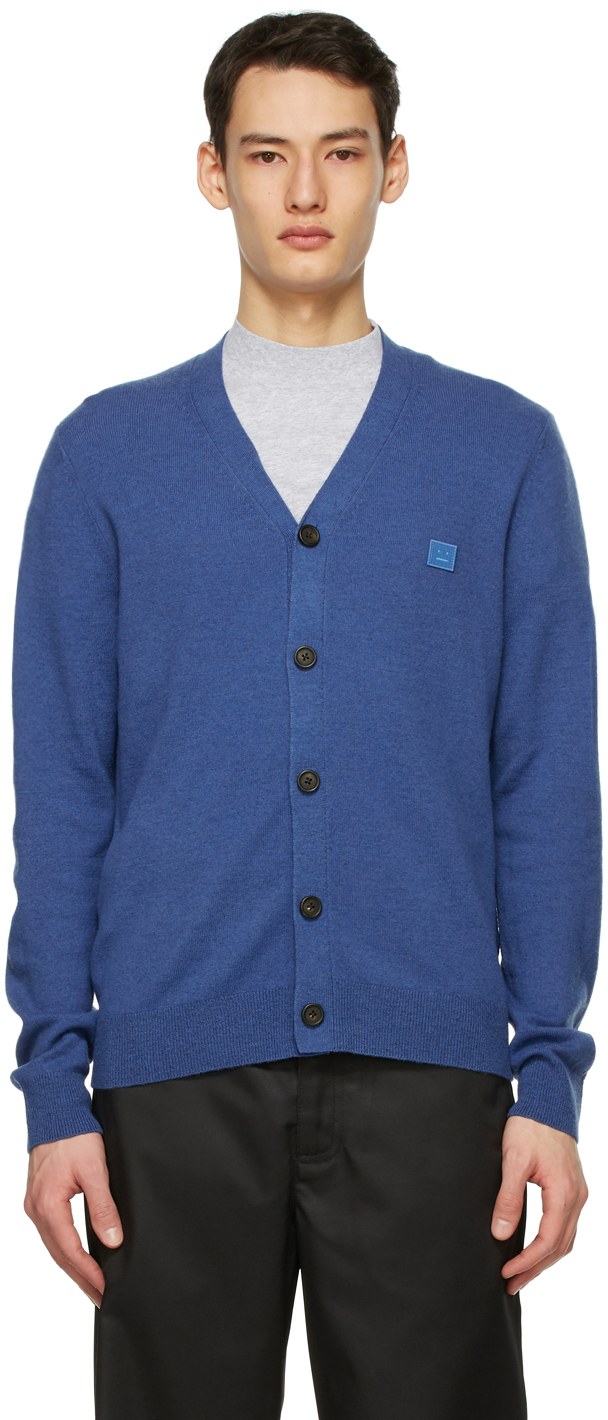 Acne Studios 蓝色贴饰羊毛开衫