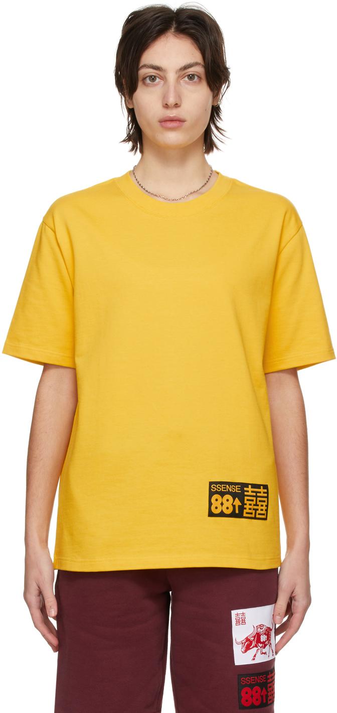 "SSENSE WORKS SSENSE 独家发售 88rising 系列黄色""Double Happiness""有机棉 T 恤"