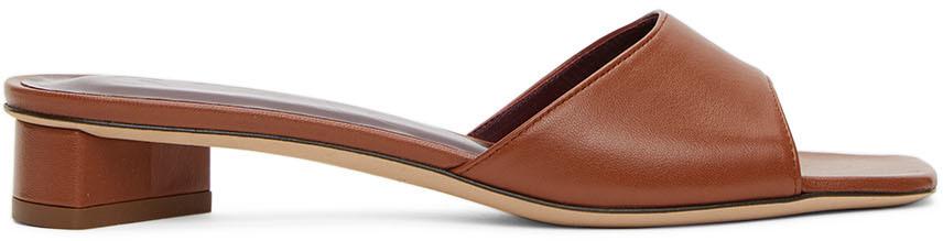 Staud 棕色 Simone 穆勒鞋