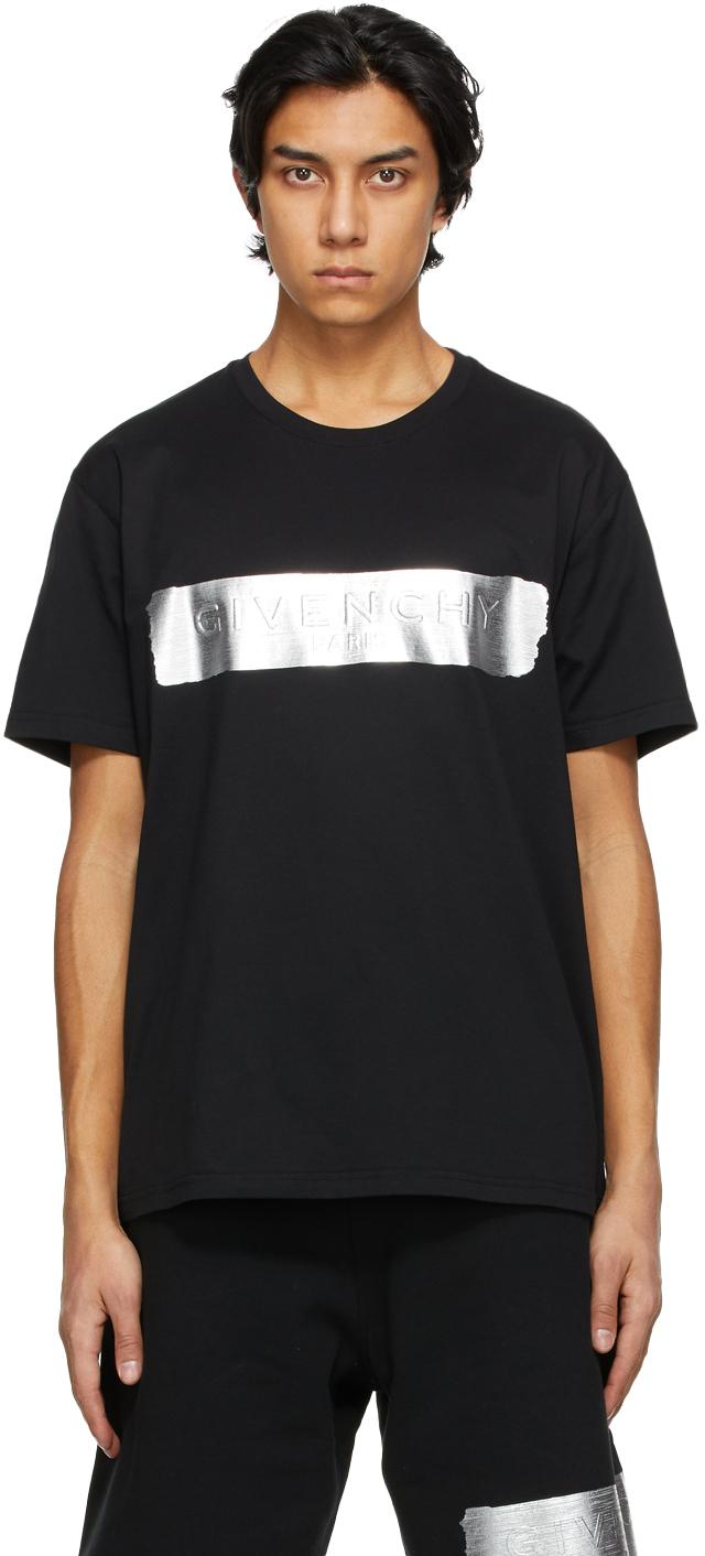 Givenchy 黑色徽标 T 恤