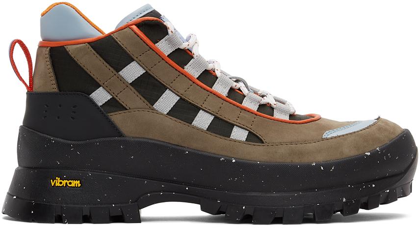 MCQ 棕色 & 黑色 Al-4 Hiking 踝靴