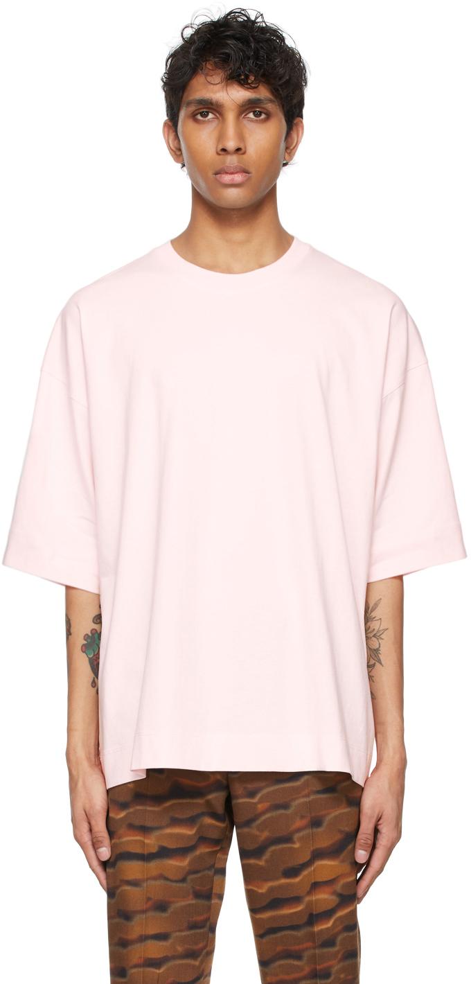Dries Van Noten 粉色圆领 T 恤