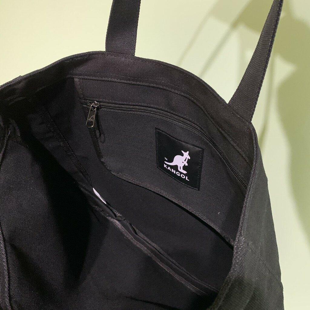 KANGOL 黑 時尚 超大 子母 托特包 6055303220 【FEEL 9S】
