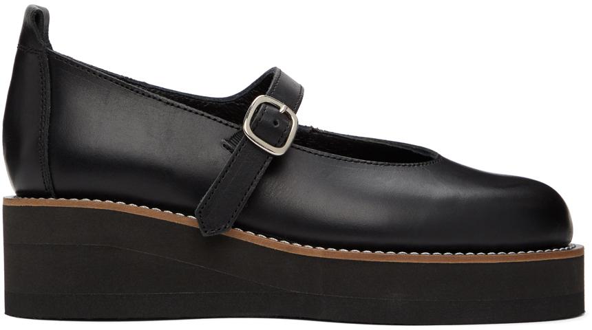 Y's 黑色玛丽珍牛津鞋