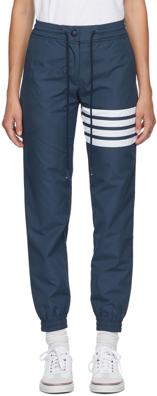 Thom Browne 海军蓝 4-Bar 运动裤