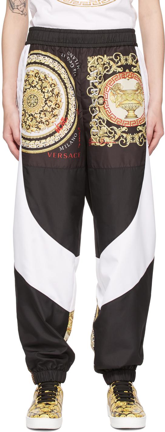 Versace 黑色 Barocco Mosaic Motif 运动裤