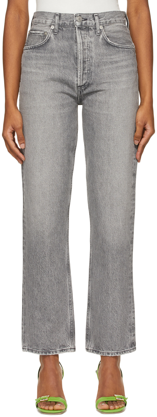 AGOLDE 灰色 90's Pinch High-Rise 有机棉牛仔裤