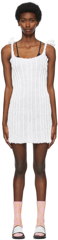 Gauntlett Cheng SSENSE 独家发售白色 Terry 连衣裙